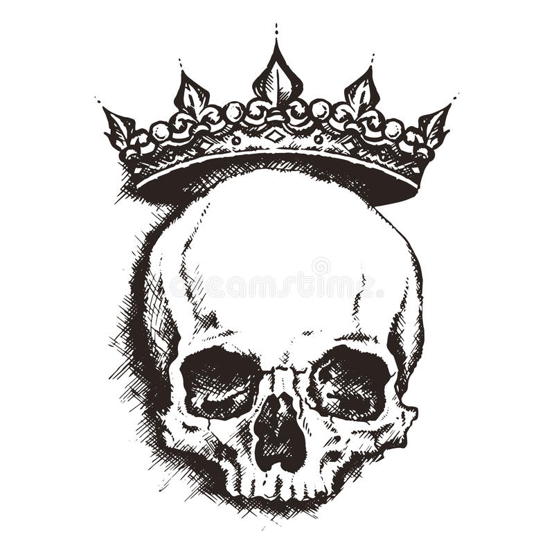 cranio Stile dell'incisione Illustrazione di vettore royalty illustrazione gratis