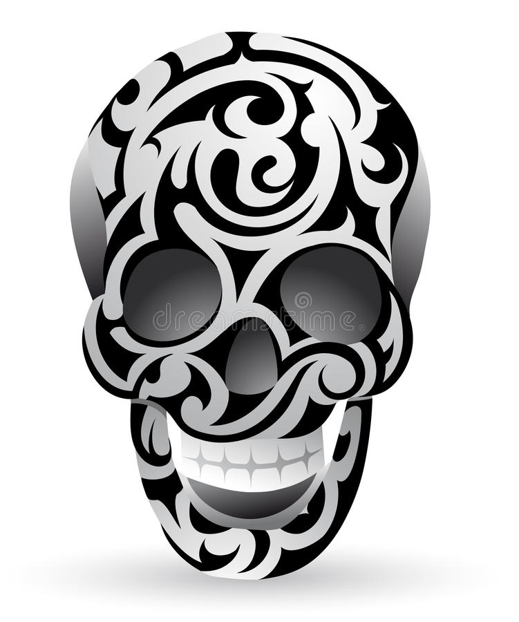 Cranio tribale illustrazione vettoriale