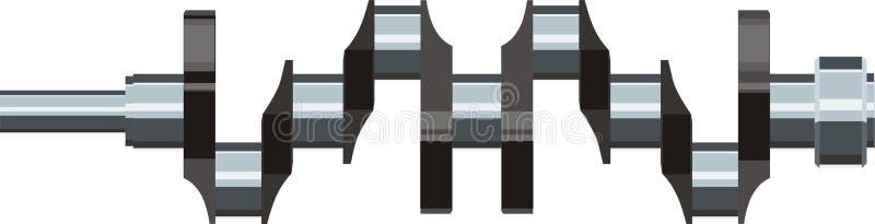 Download Crankshaft motor detail stock vector. Image of crankshaft - 13058113