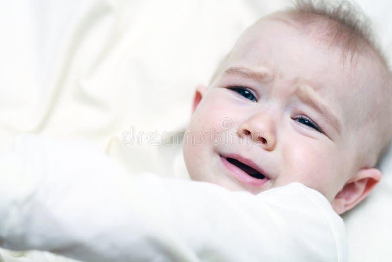 Cranky baby royalty free stock photo
