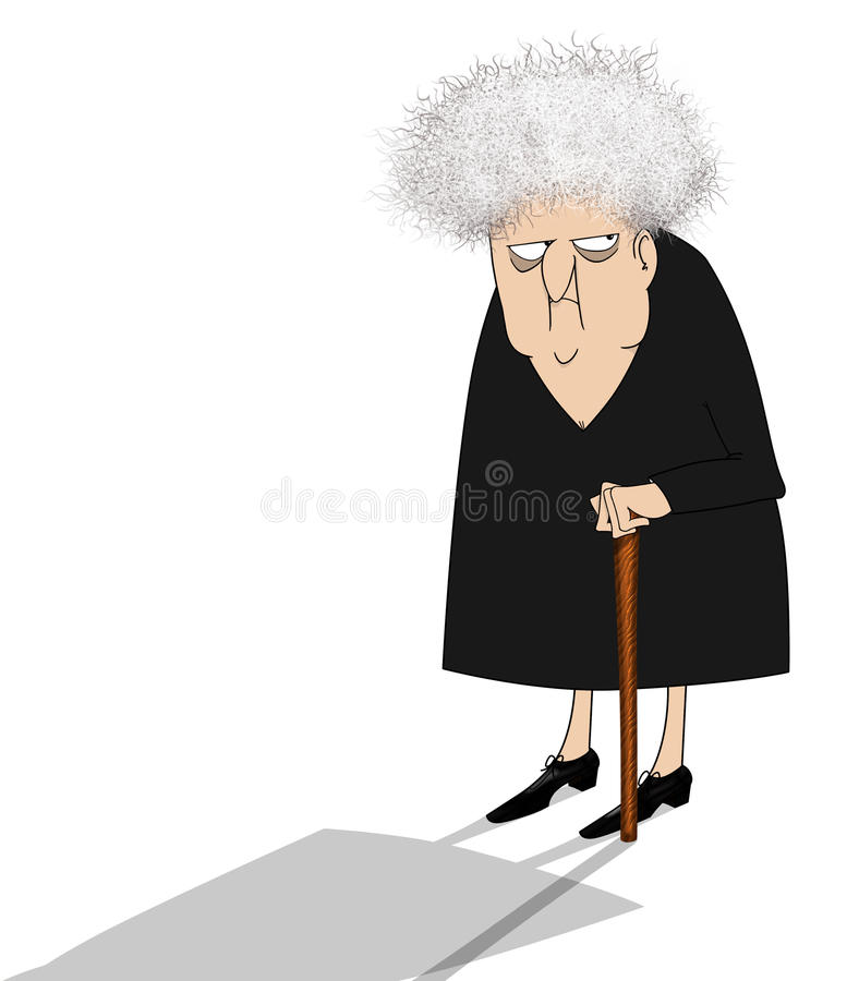 Free Cranky Old Lady Looking Suspicious Royalty Free Stock Image - 16274516