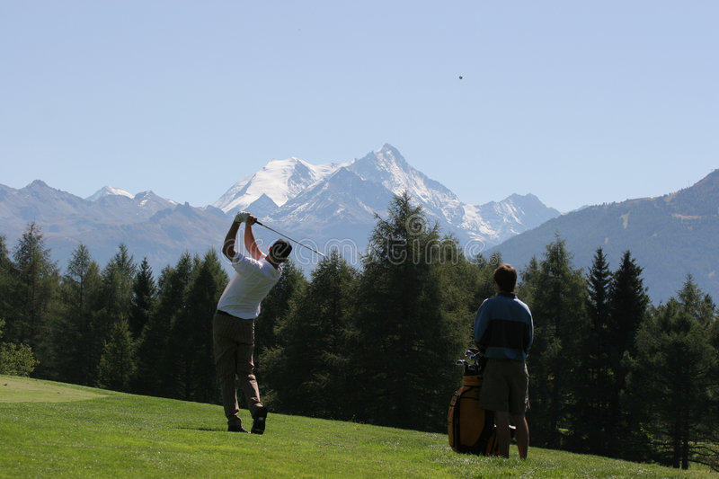 crans golf Montana zamach obrazy stock