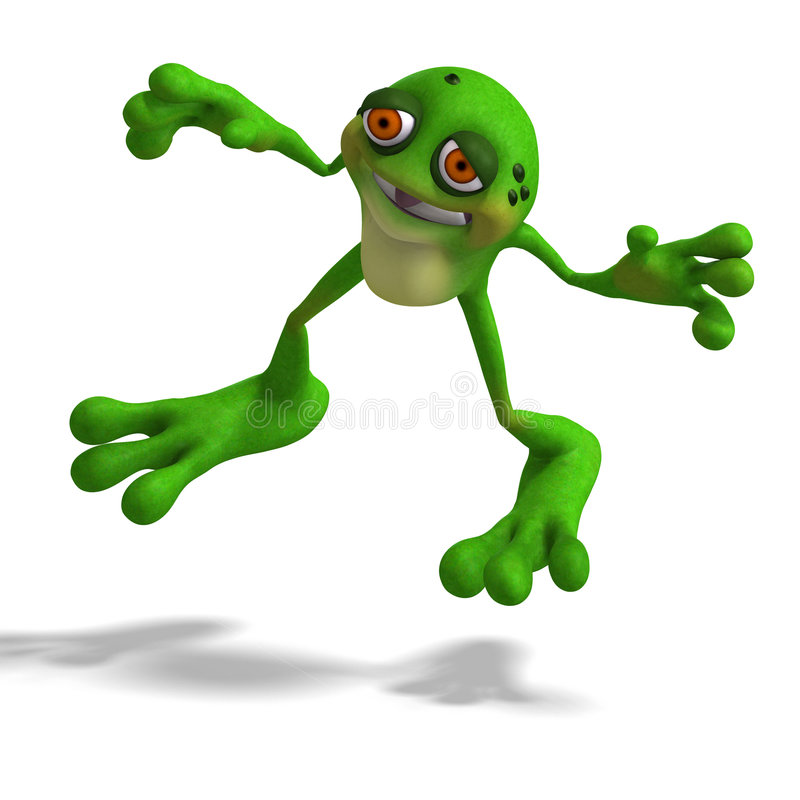 Crapaud fou illustration stock