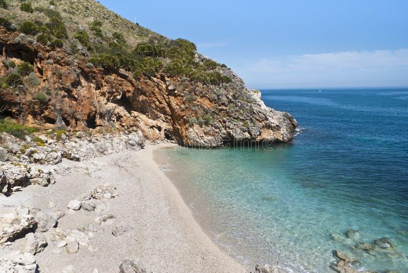 Capreria de Cala, Sicília, Italia imagem de stock