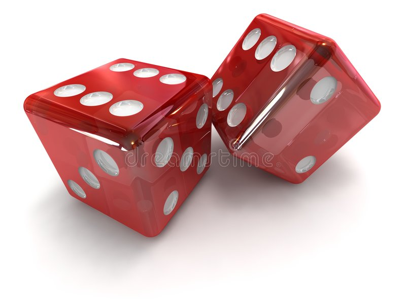 Craps. Game, object of the miscellaneous of the colour royalty free stock photo