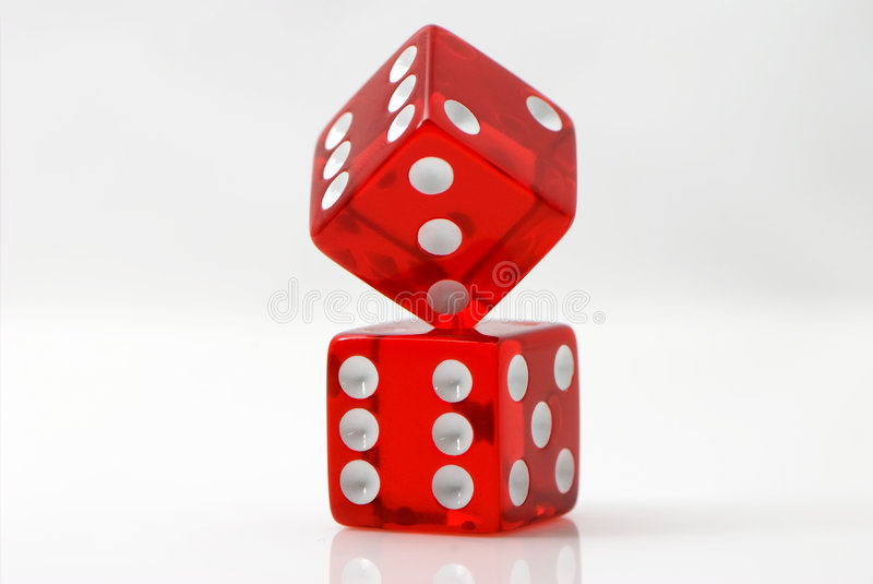 Craps. On a white background royalty free stock photo
