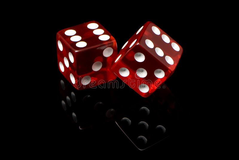 Craps. On a black background stock photography
