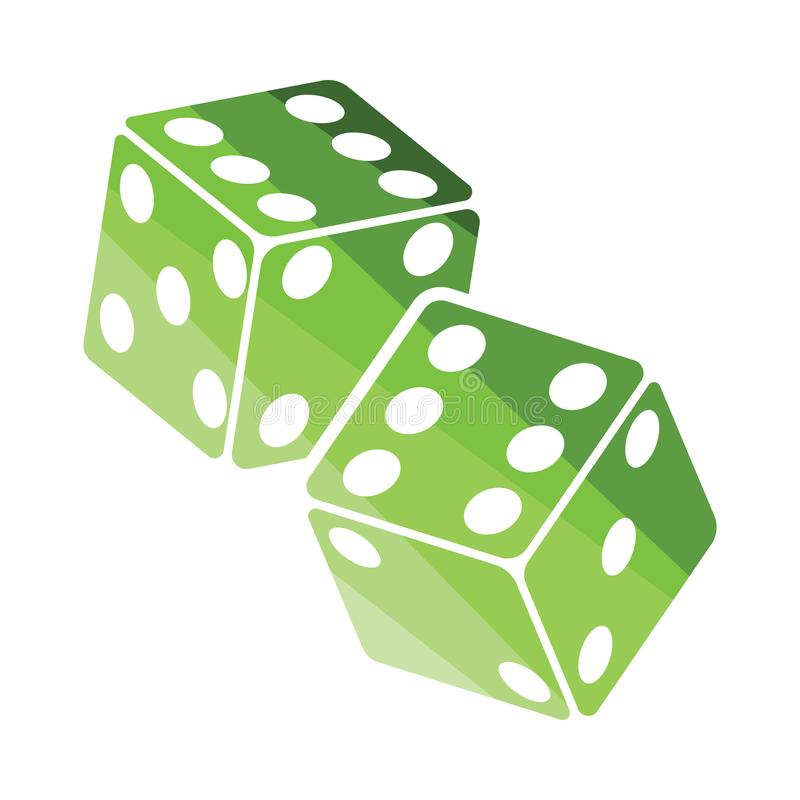 Craps dice icon. Flat color design. Vector illustration vector illustration