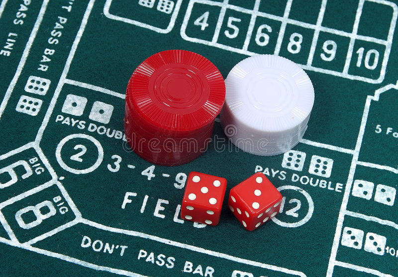 Craps Table 2 stock photography