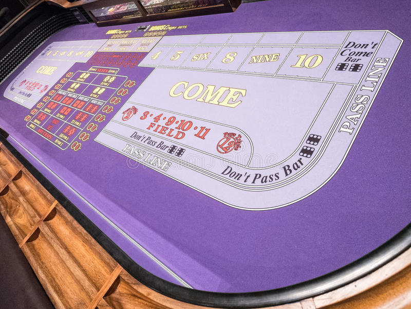 Craps table. Colorful Craps table at a Las Vegas resort stock image