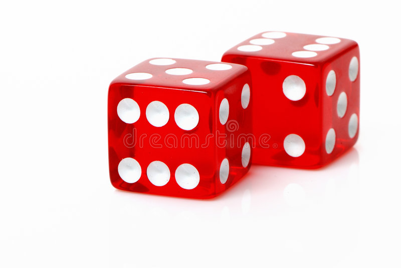 Craps on a white background. Two craps on a white background royalty free stock photography