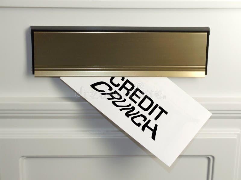 Craquement de crédit image libre de droits