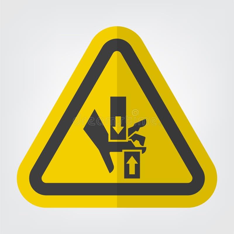 ?crasez le signe inf?rieur sup?rieur de symbole de main, l'illustration de vecteur, isolat sur le label blanc de fond EPS10 illustration libre de droits