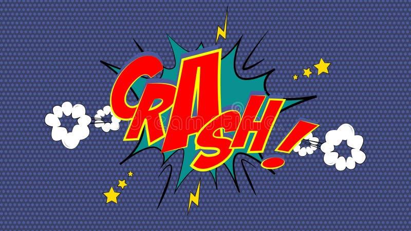 CRASH! Comic Book Bubble vector illustration
