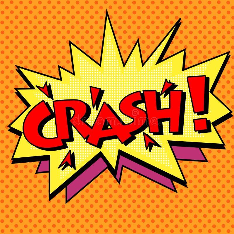 Crash comic text bubble stock illustration