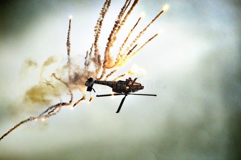 Crash d'hélicoptère photographie stock