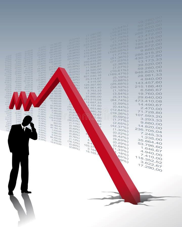 Crash de marché boursier illustration de vecteur
