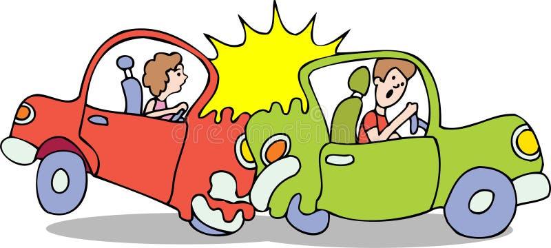 Crash de véhicule - aucun fond illustration stock