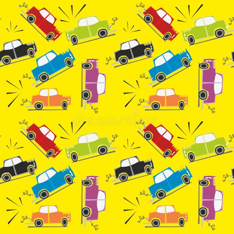 Crash de véhicule sans joint de configuration illustration libre de droits