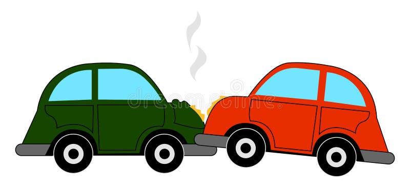Crash de voiture, illustration, vecteur illustration de vecteur