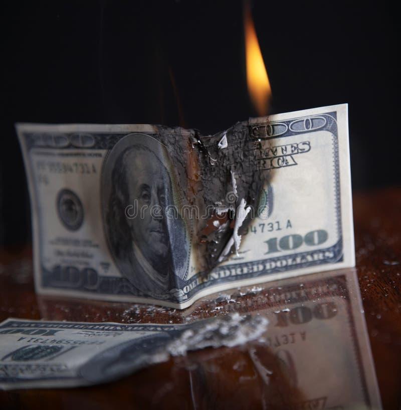 Crash financier photo stock