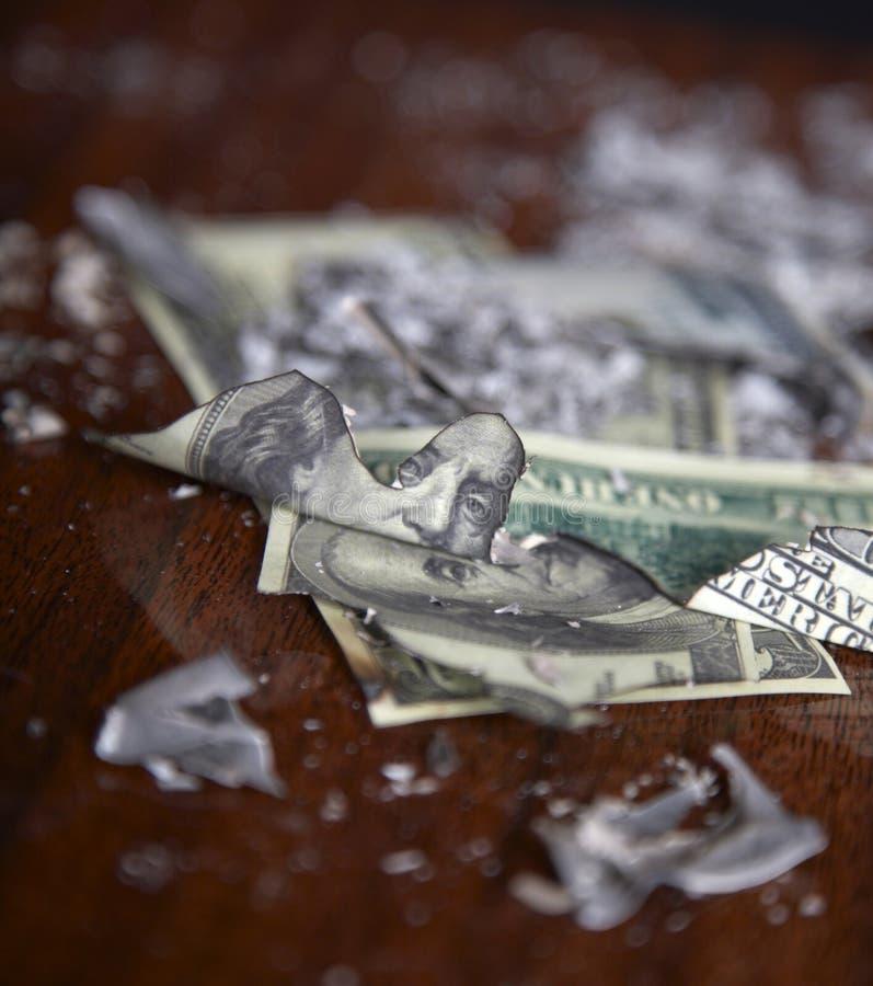 Crash financier image stock