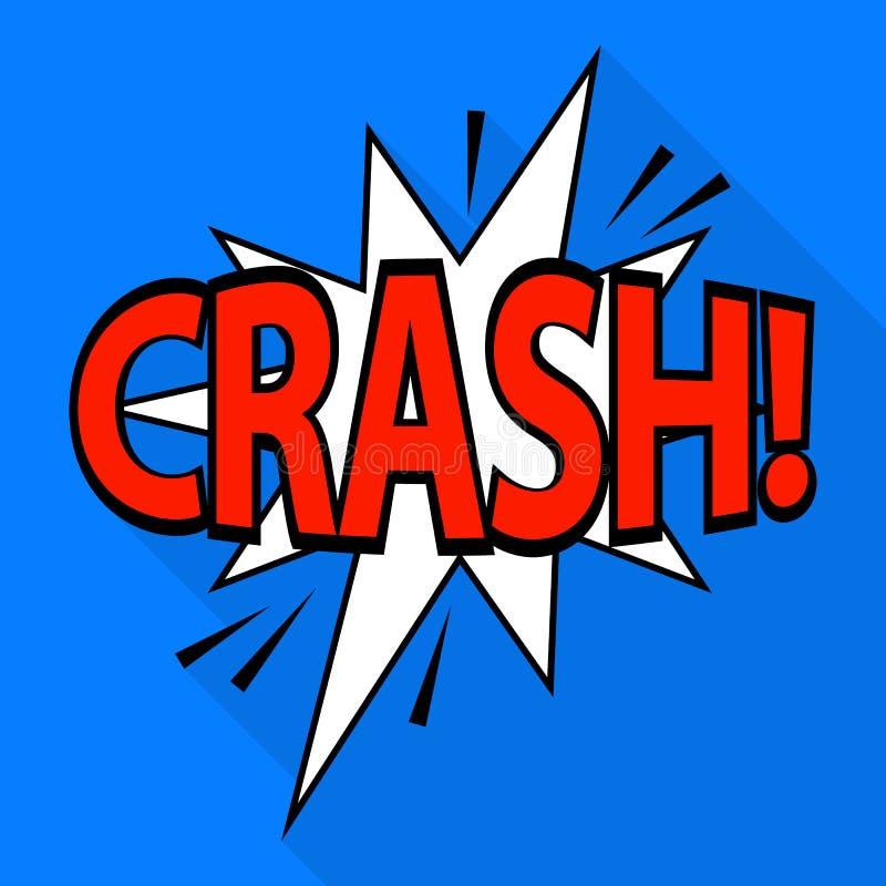 Crash icon, pop art style vector illustration
