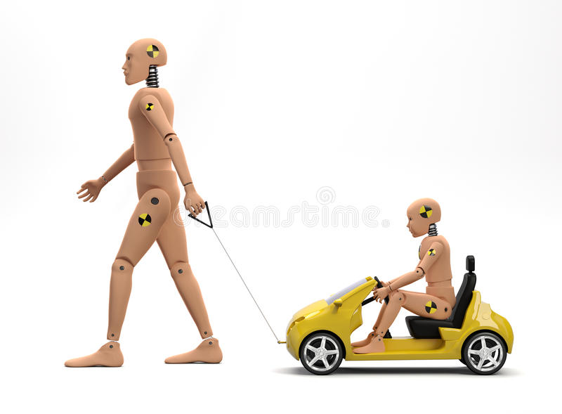 Crash Test Dummies royalty free stock photos