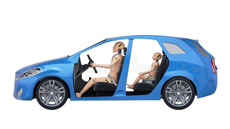 Crash Test Dummies in the Car royalty free illustration
