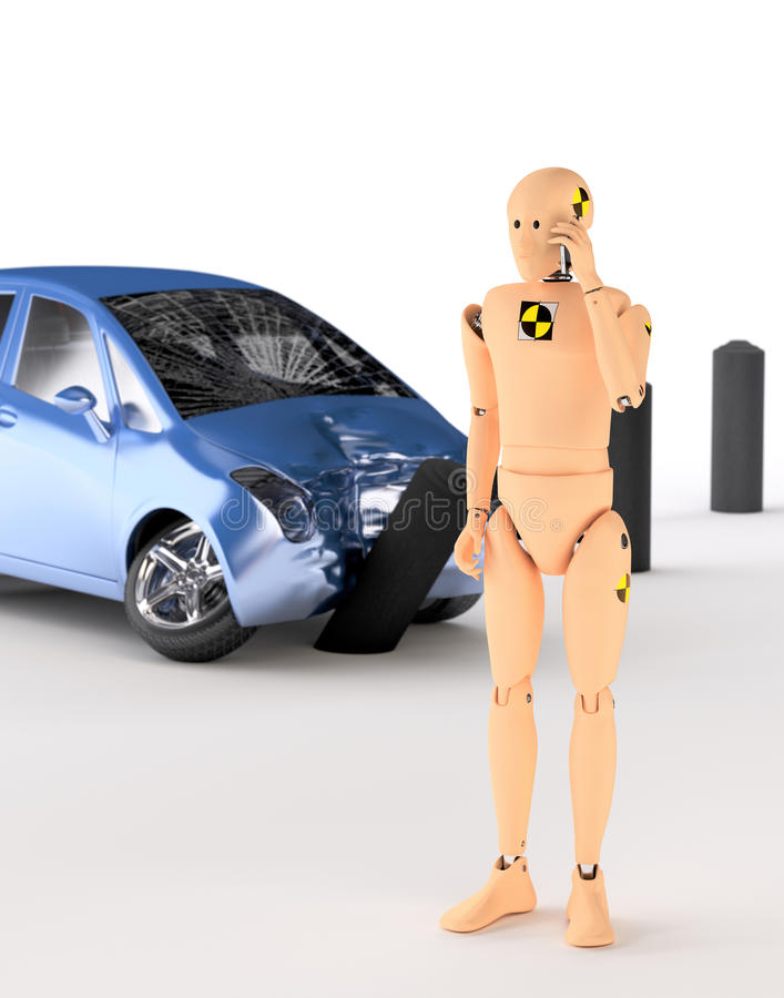 Crash Test Dummy vector illustration