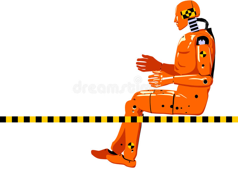 Crash test dummy stock illustration