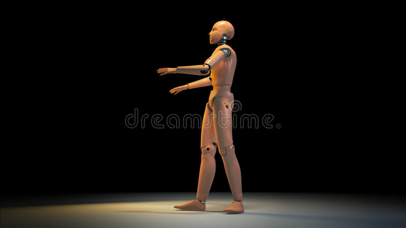 Crash test dummy. 3D render vector illustration