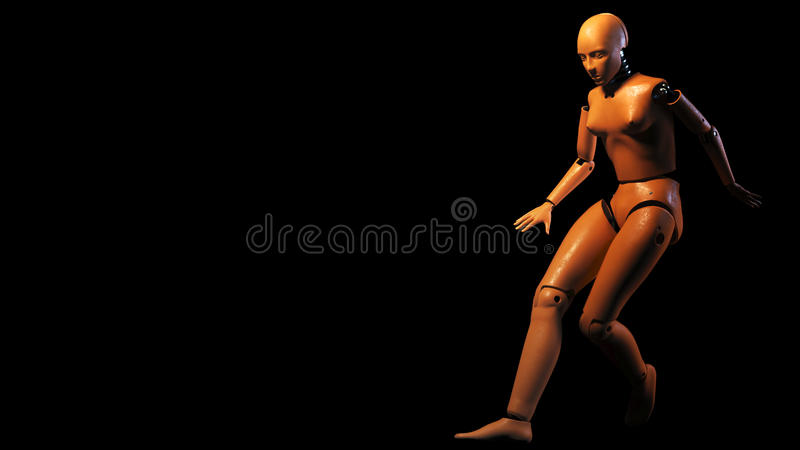 Crash test dummy. Isolated. 3D render royalty free illustration