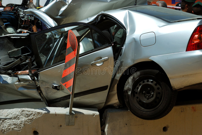 Crashed car 1 royalty free stock photography