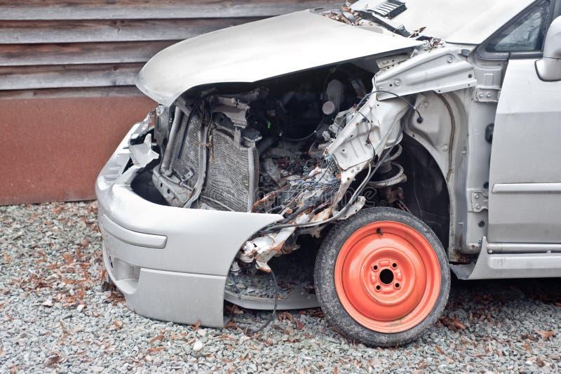 Crashed car closeup royalty free stock images