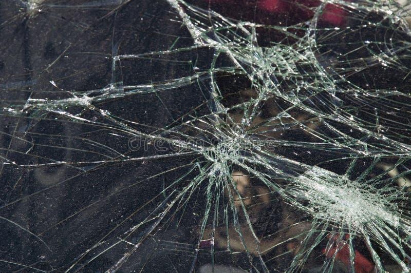 Crashed glass window stock photography