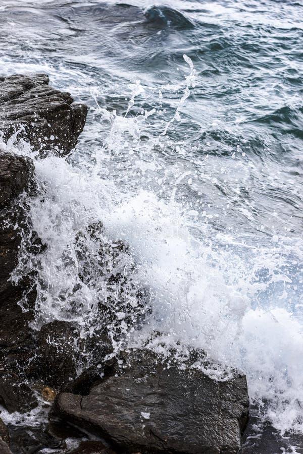 Crashing sea waves stock images