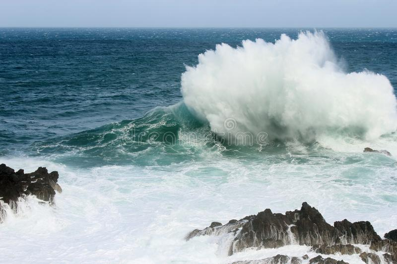Download Crashing Wave stock image. Image of rocky, stormy, scenic - 31328409