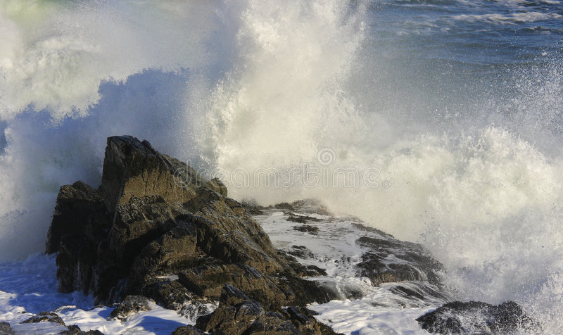 Crashing waves royalty free stock photo
