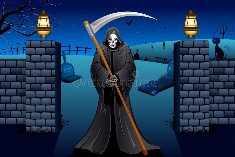 Crasse dans le cimetière illustration de vecteur