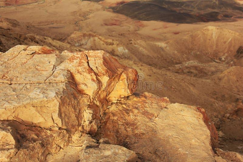 Cratère de désert du Néguev et de Ramon photo libre de droits