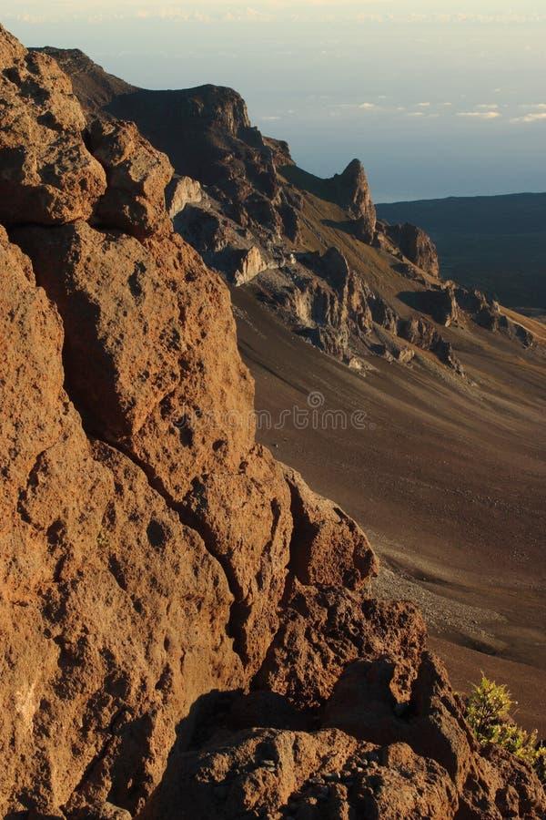 Cratère de Haleakala image libre de droits