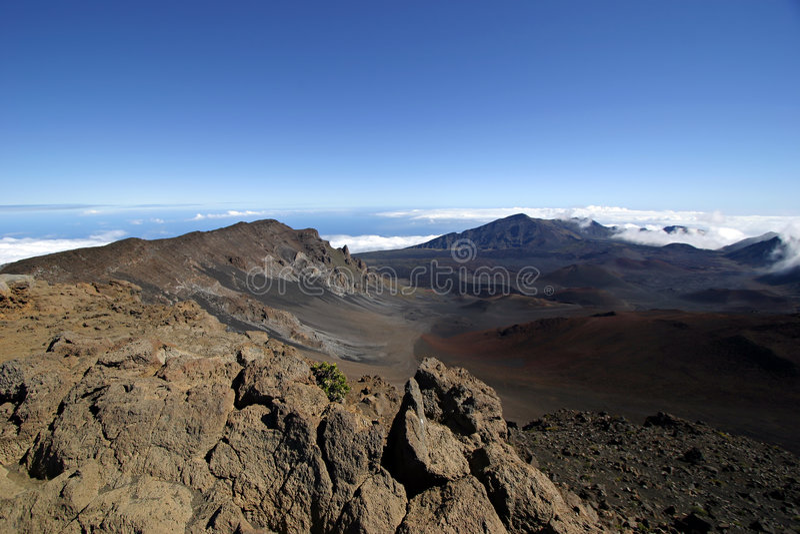 Cratère de Haleakala - Maui, Hawaï photographie stock