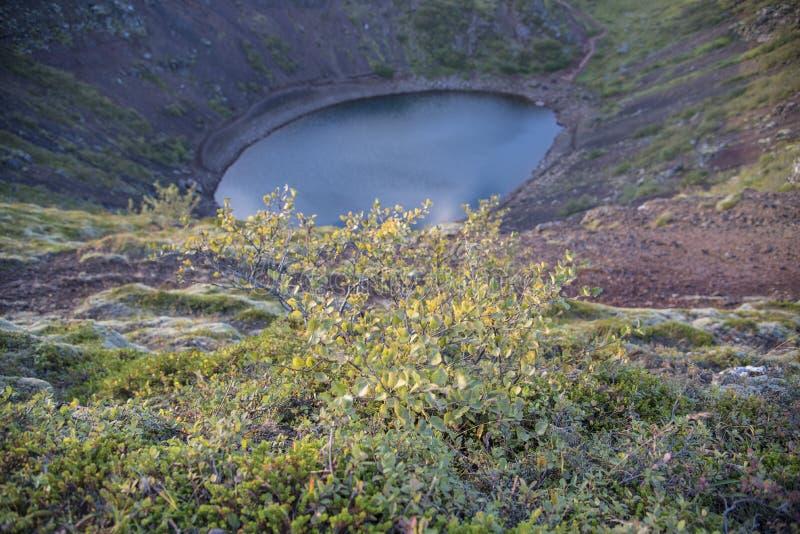 Cratère de Kerid, Kerið, photographie stock