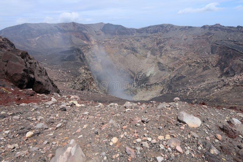 Cratère de sommet sur le volcan de San Miguel, Salvador images libres de droits