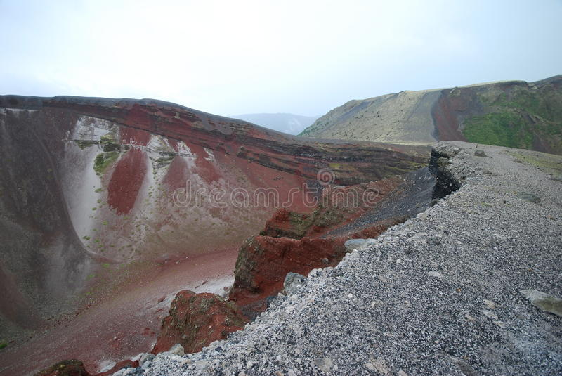 Cratère de Tarawera de bâti après pluie photos libres de droits