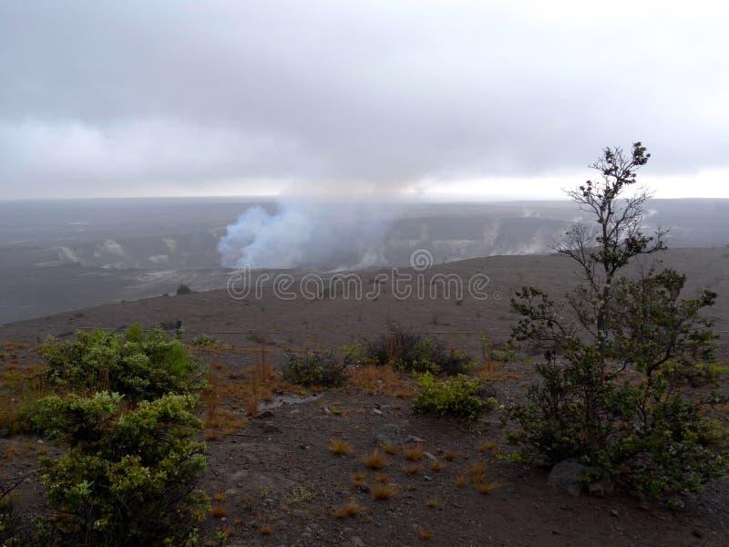 Cratère de volcan de Kilauea photographie stock