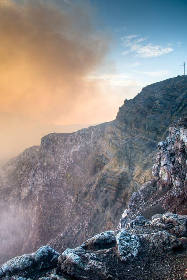Cratère du volcan de Mombacho près de Grenade, Nicaragua image libre de droits