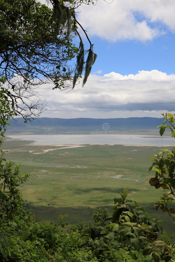Cratère Tanzanie de Ngorongoro images stock