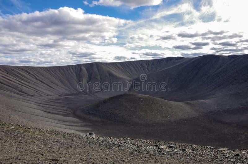 Cratère volcanique de Hverfjall près de lac Myvatn en Islande, un de Th images libres de droits